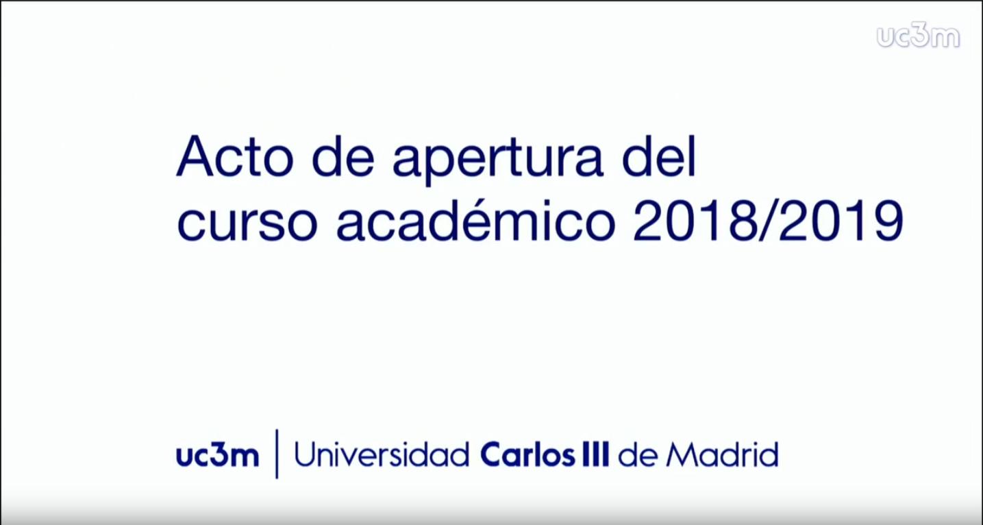 ACTO DE APERTURA DEL CURSO ACADÉMICO 2018-2019