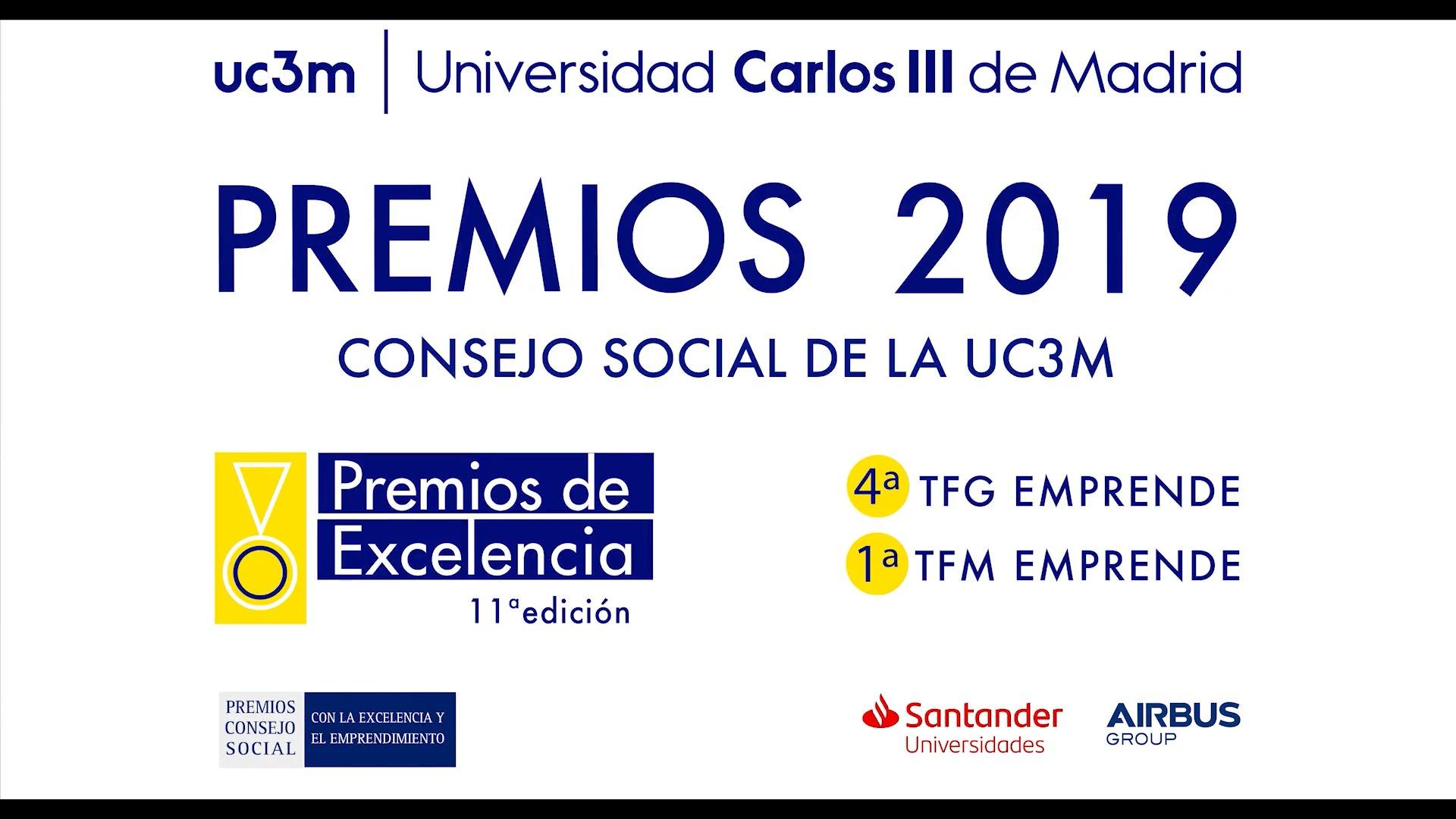 Ceremonia de Entrega de los Premios de Excelencia 2019 del Consejo Social UC3M